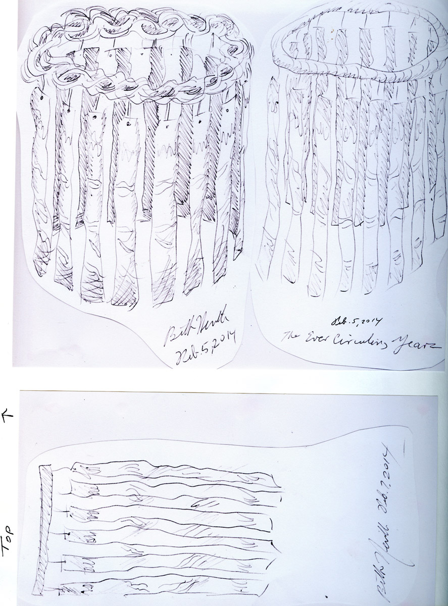 """""""Circle of Life,"""" first concept drawings, February 5, 2014,"""
