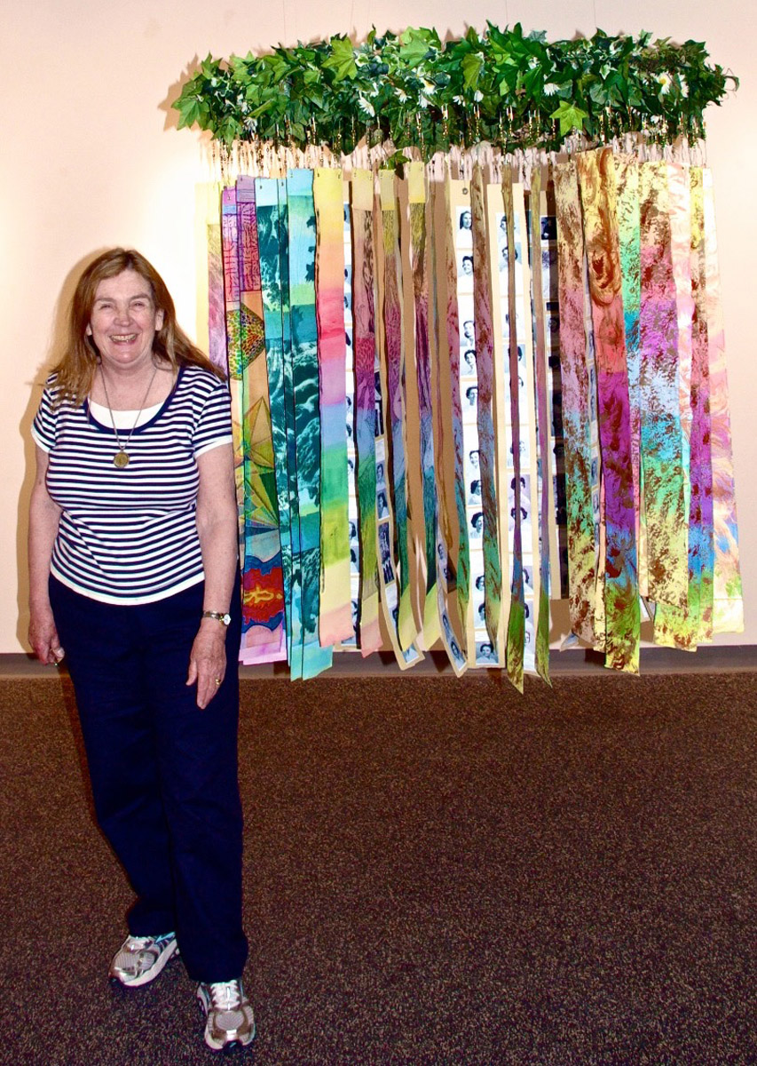 """Beth and """"Circle of Life,"""" installed, Jannotta Gallery, Smith College,"""
