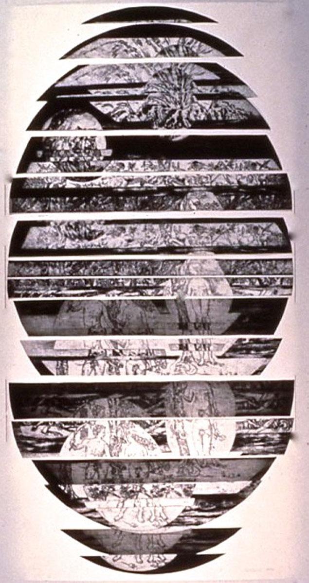 collage: Adam, Eve