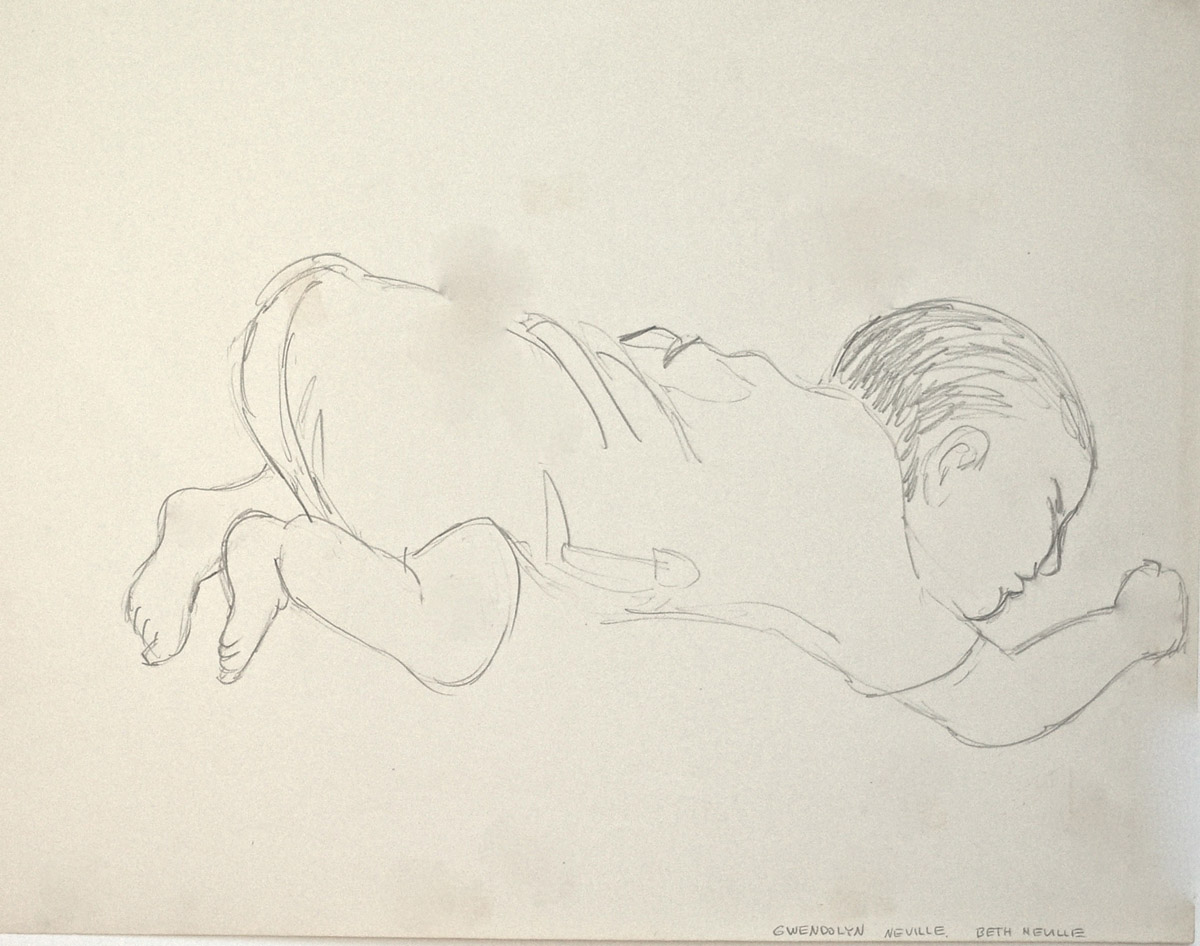 drawing: Gwendolyn Sleeping