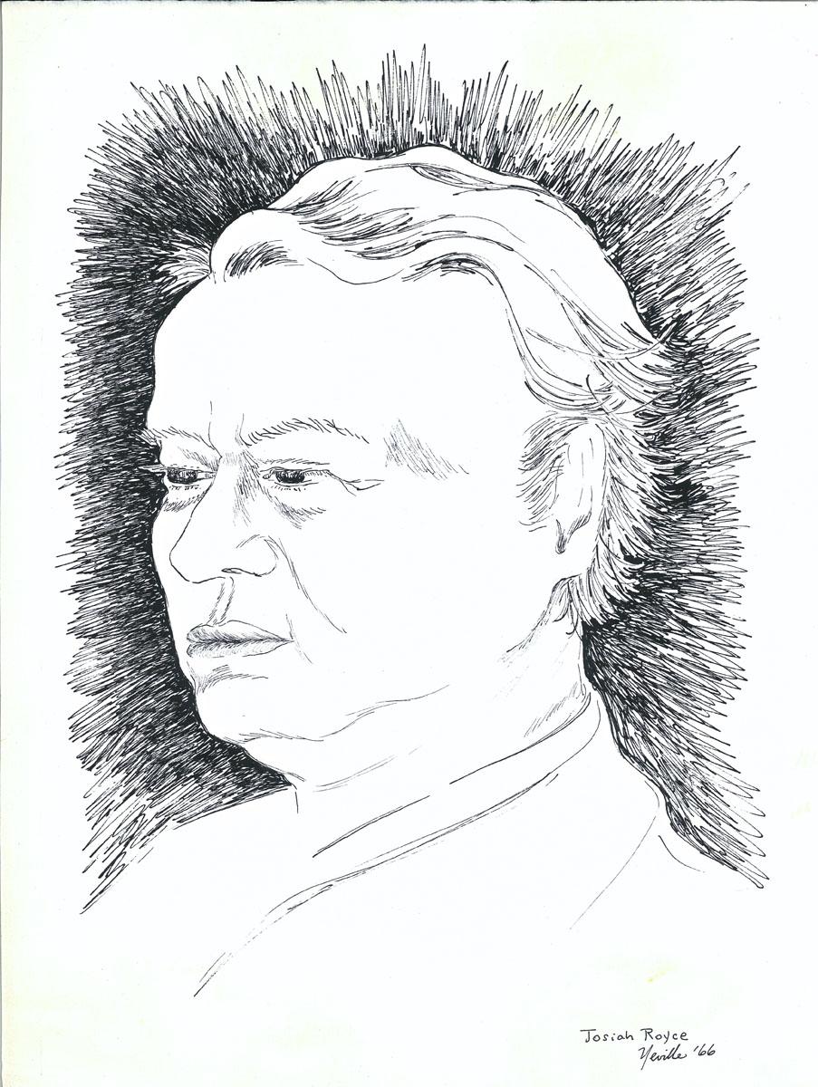 drawing: Josiah Royce portrait