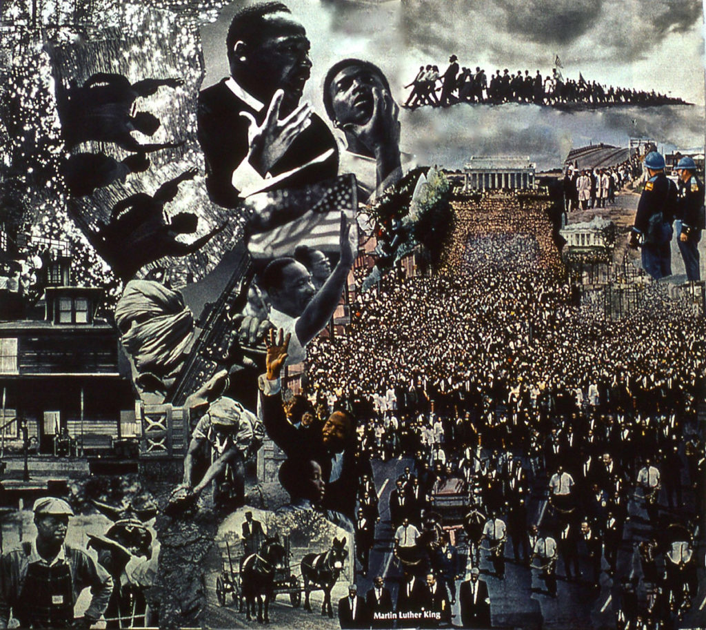 photomontage: Martin Luther King Cortege