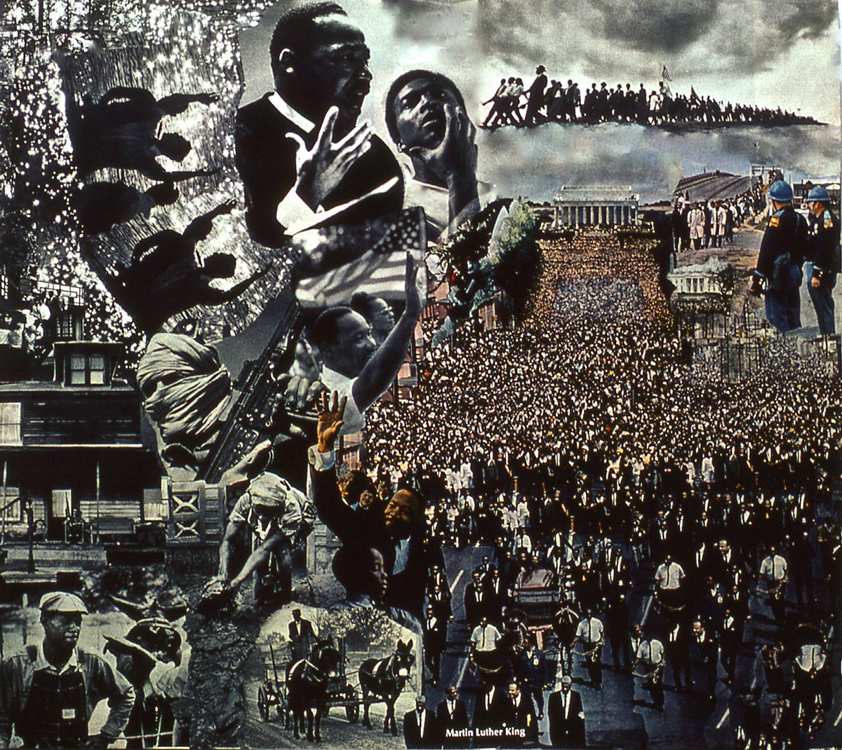 photomontage: Martin Luther King Cortege