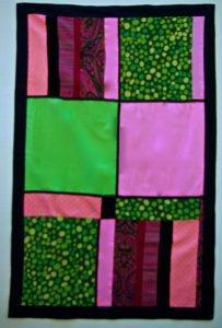 Pink, Green, Window Curtain