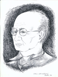drawing: Alfred North Whitehead portrait