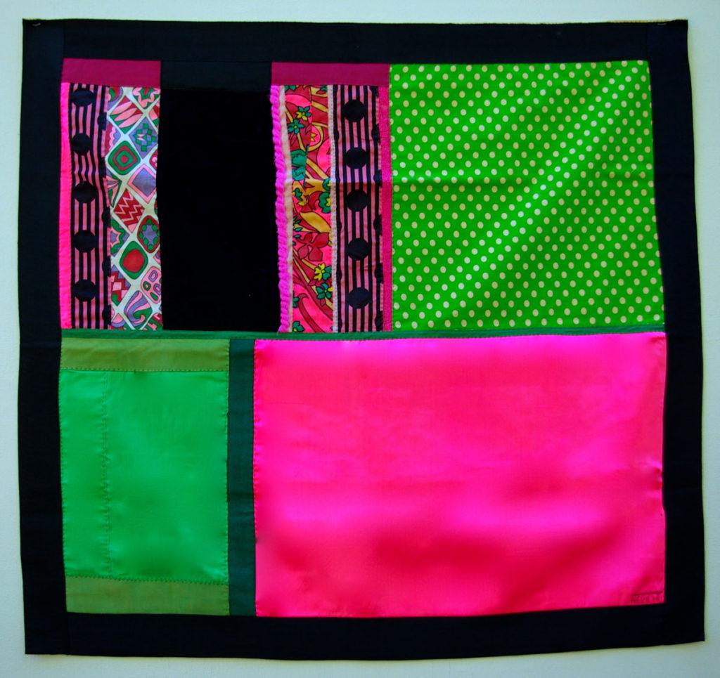 Florescent Pink, Polkadot Green banner