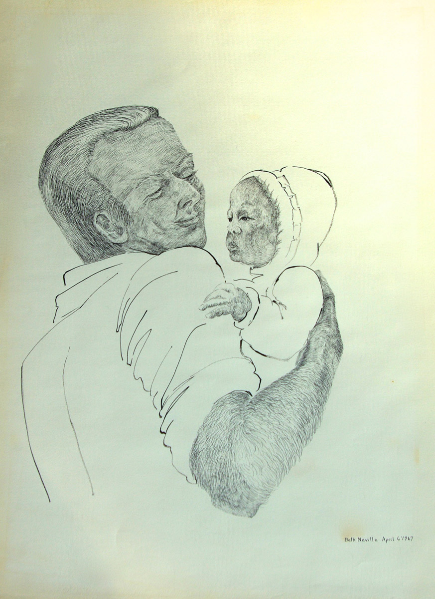 pen drawing: Robert Holding Gwendolyn