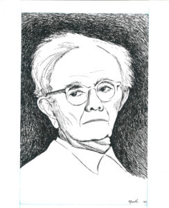 drawing: Dr. Paul Tillich portrait