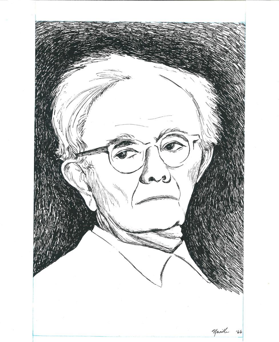drawing: Dr. Paul Tillich portrait