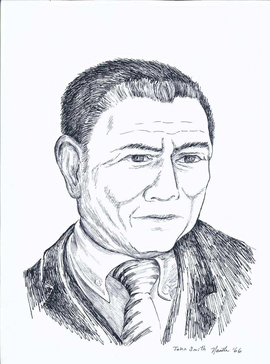 drawing: Dr. John Smith portrait