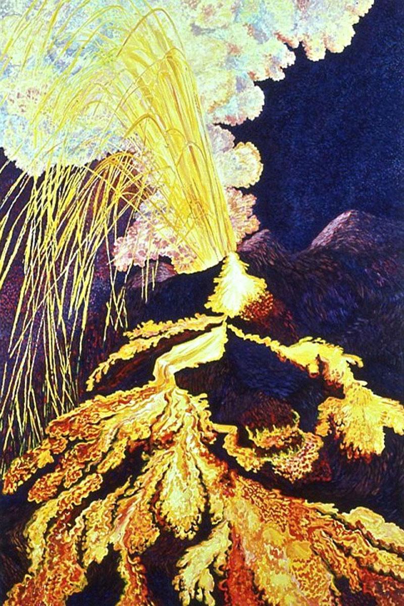 Volcanic Explosion #2 acrylic painting