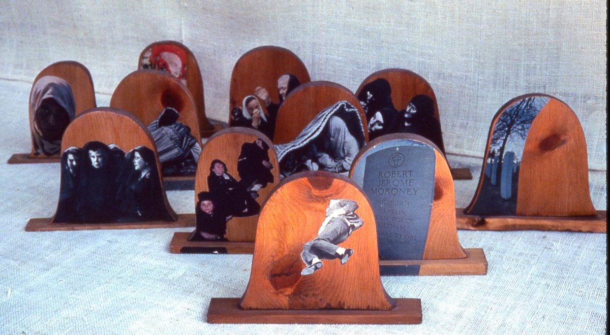 Tombstones sculpture overall view