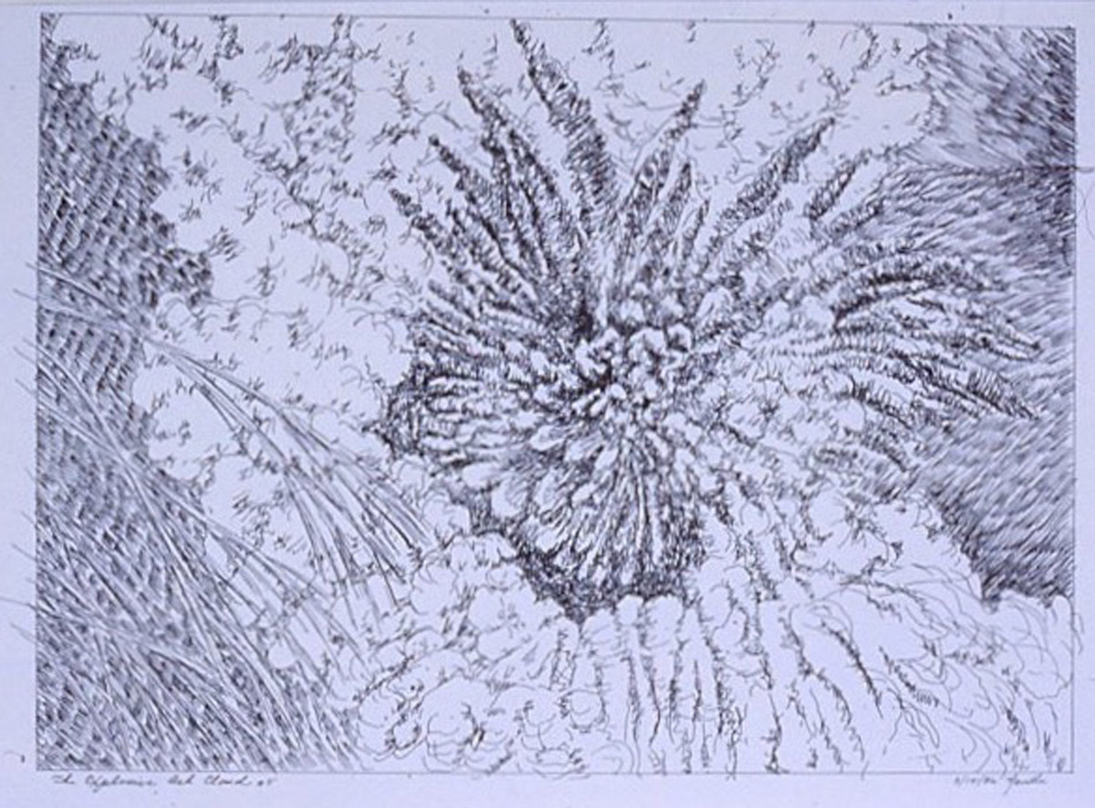 """pen and paper detail, """"Explosion"""""""