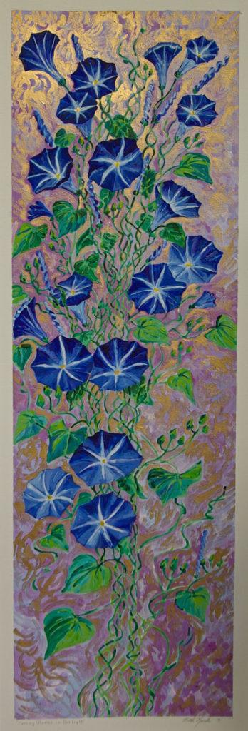 Morning Glory Vine: acrylic painting