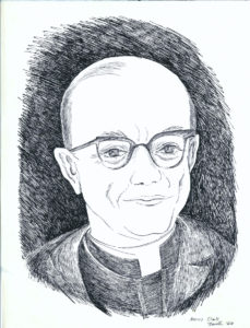 drawing: Rev. Norrie Clarke S.J. portrait