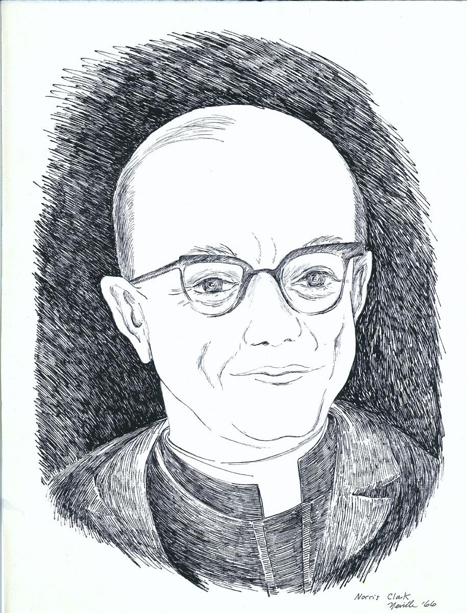 drawing: Rev. Norrie Clarke S.J. portrait