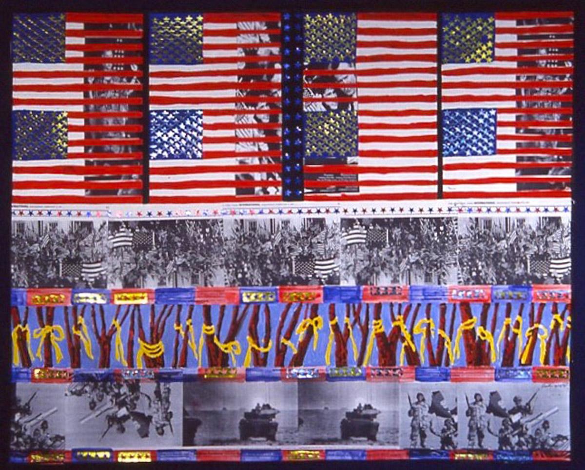 collage: Iraq War, The Patriot War