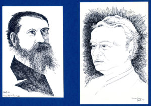 portrait illustrations of Charles Peirce and Josiah Royce
