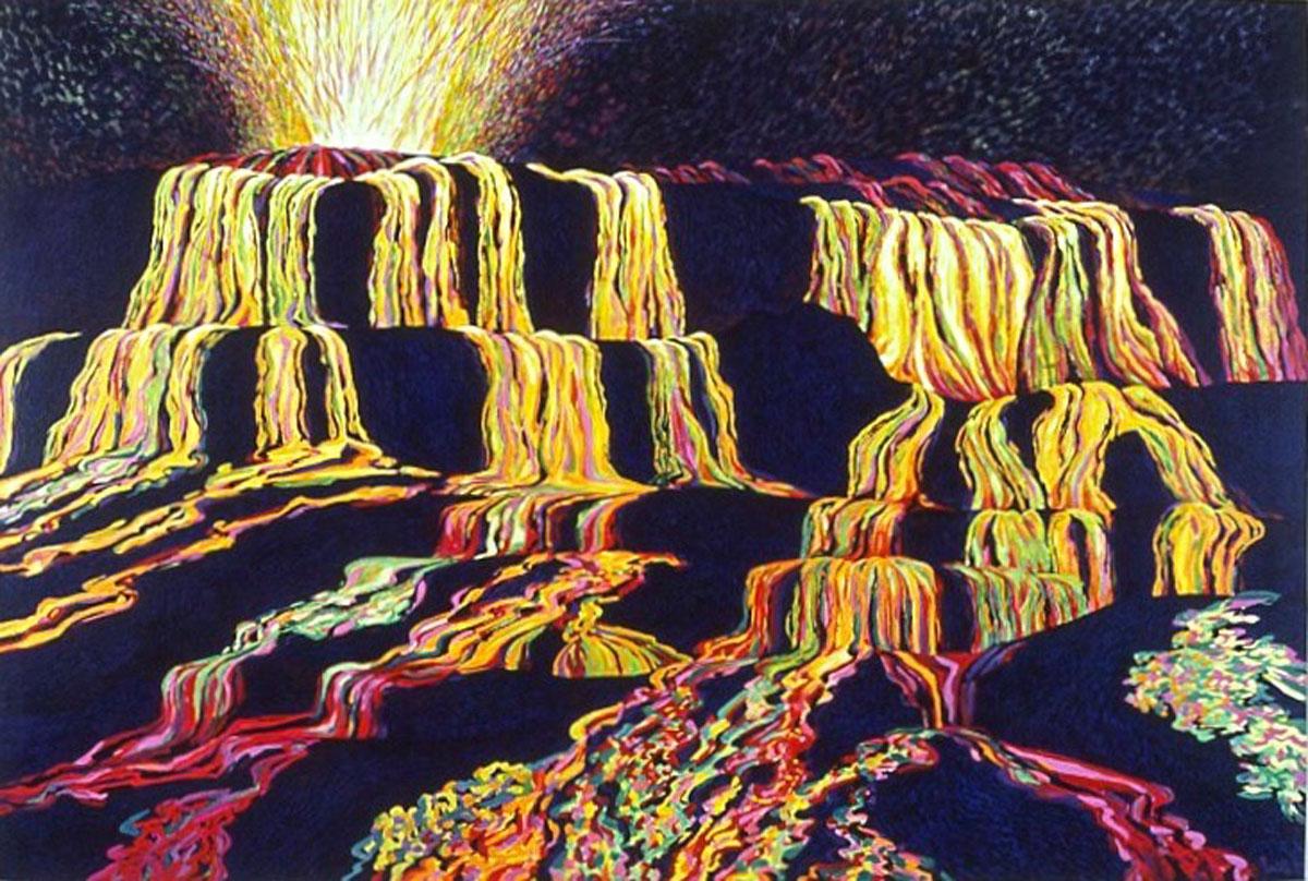 Lava Flow painting
