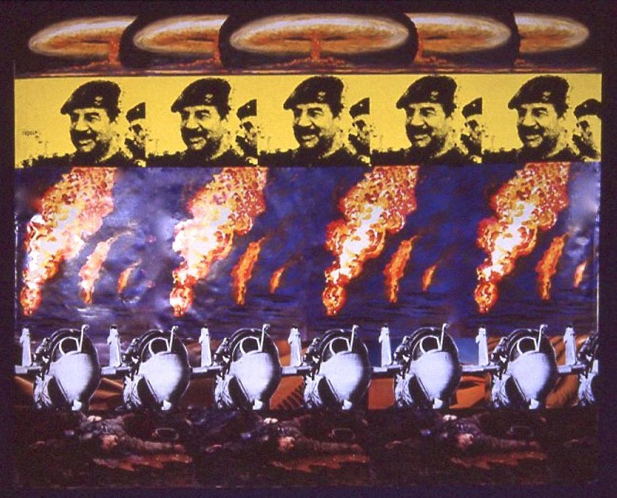 collage: The Iraq War, War Worries