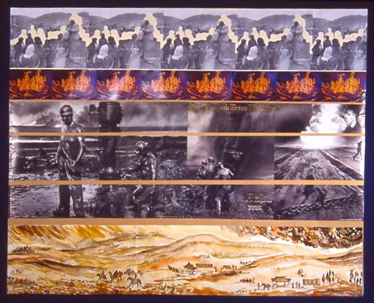 collage: The Iraq War, The Environmental War