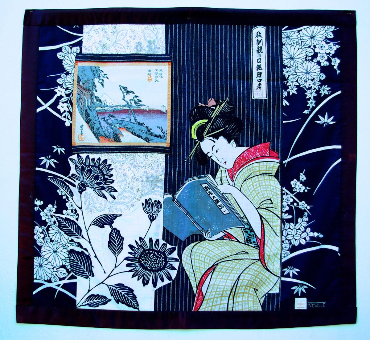 Geisha banner, Japanese Fabrics