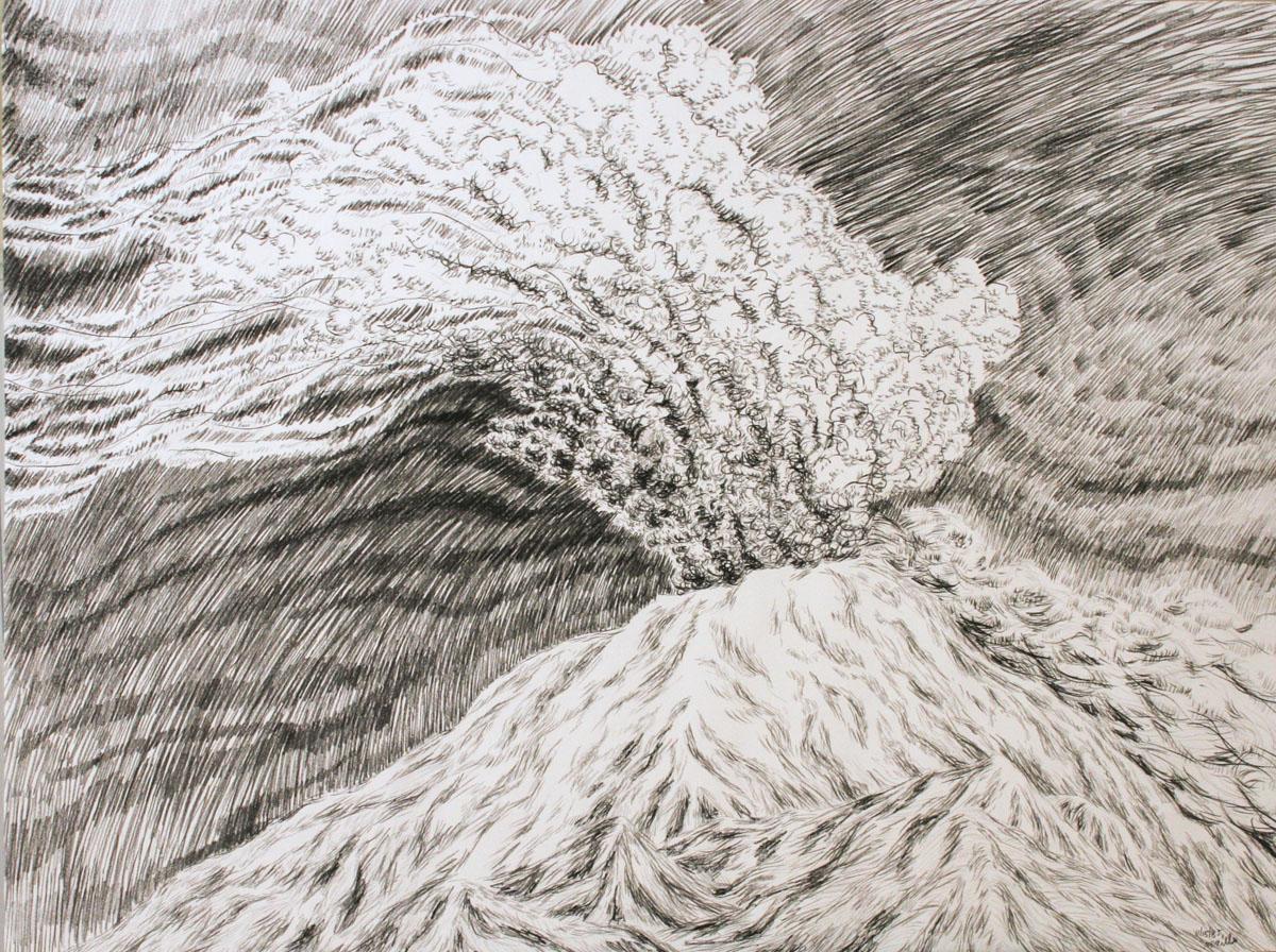 Ash Cloud, charcoal study
