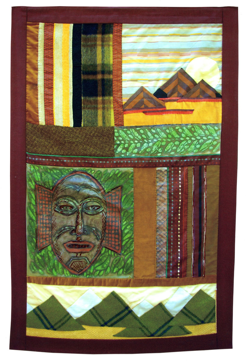 African Mask, Pyramids banner