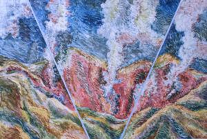 Caldera, White Steam: monoprint