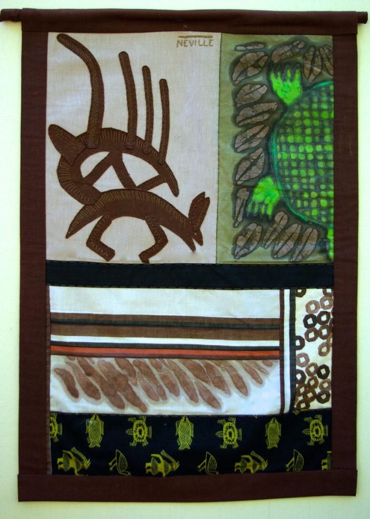 Antelope banner, left side
