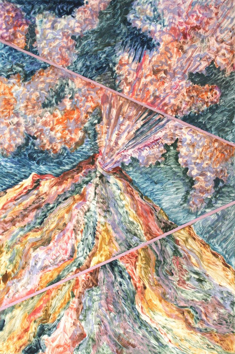 Volcanic Explosion #2, monoprint