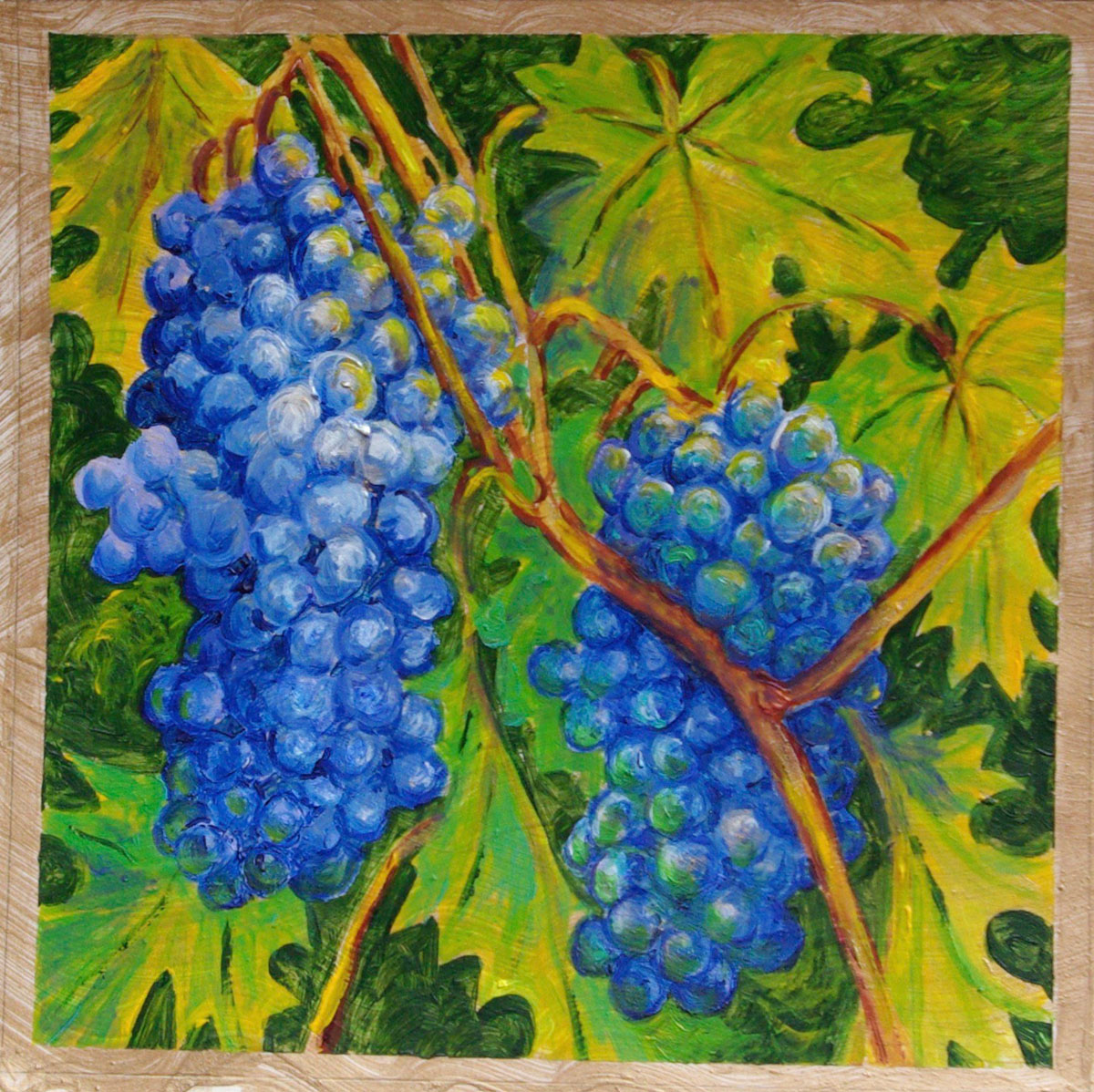 Grapes: acrylic painting