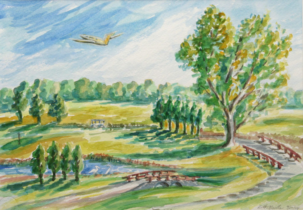 watercolor: Meadow Greens Golf Course Ghent NY