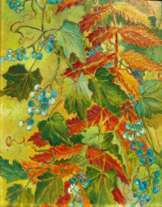 Wild Berries Turner's Pond: oil painting