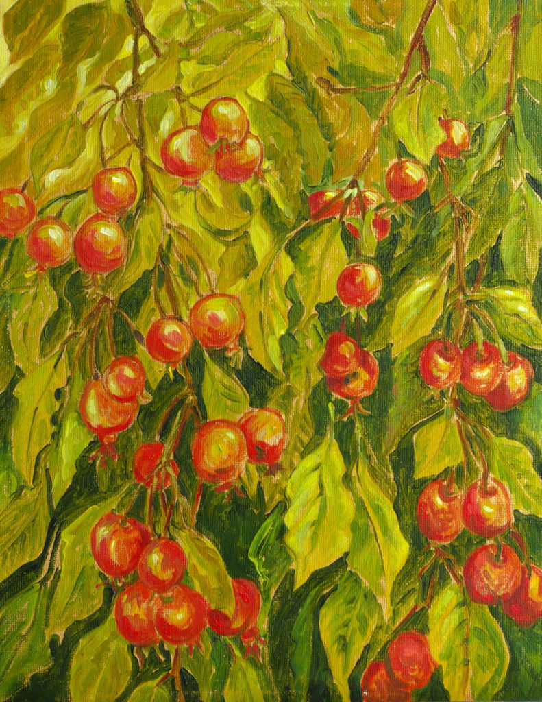 Neville Crab Apple: oil painting