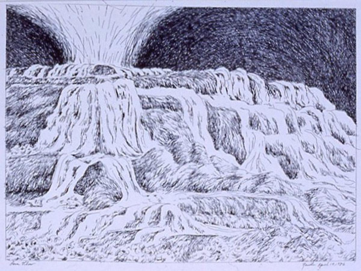 pen on paper study: Lava Flow