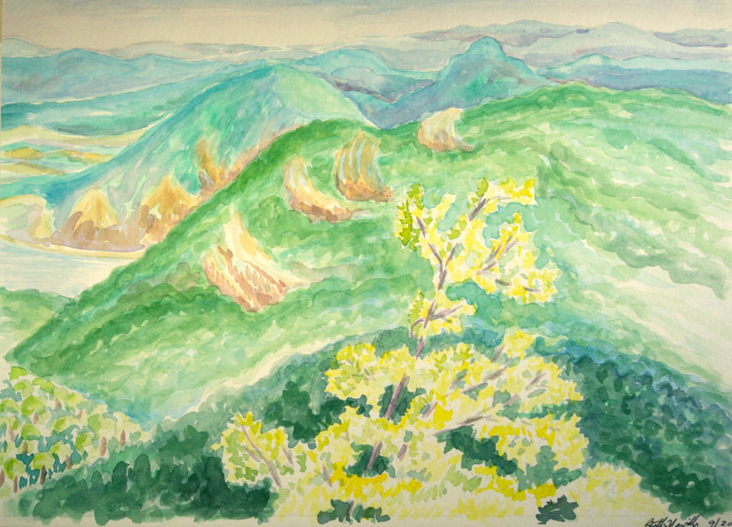 watercolor: Danube River Valley