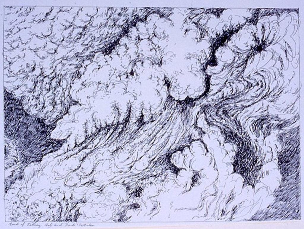 pen on paper study: Ash Cloud