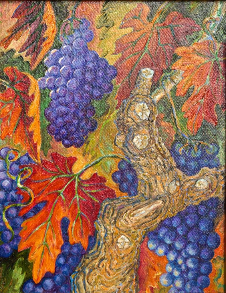 Vintage Old Vines: oil painting