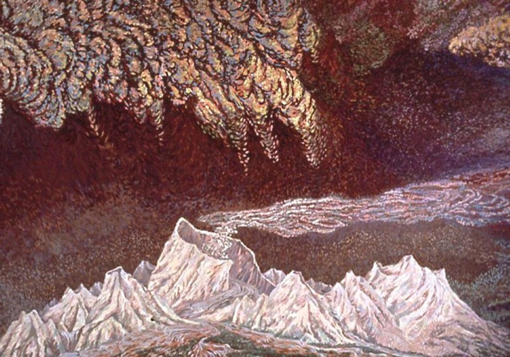acrylic painting: Nevada del Ruiz