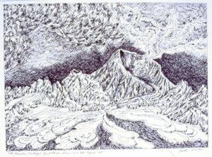 Nevada del Ruiz, detail, ERS series