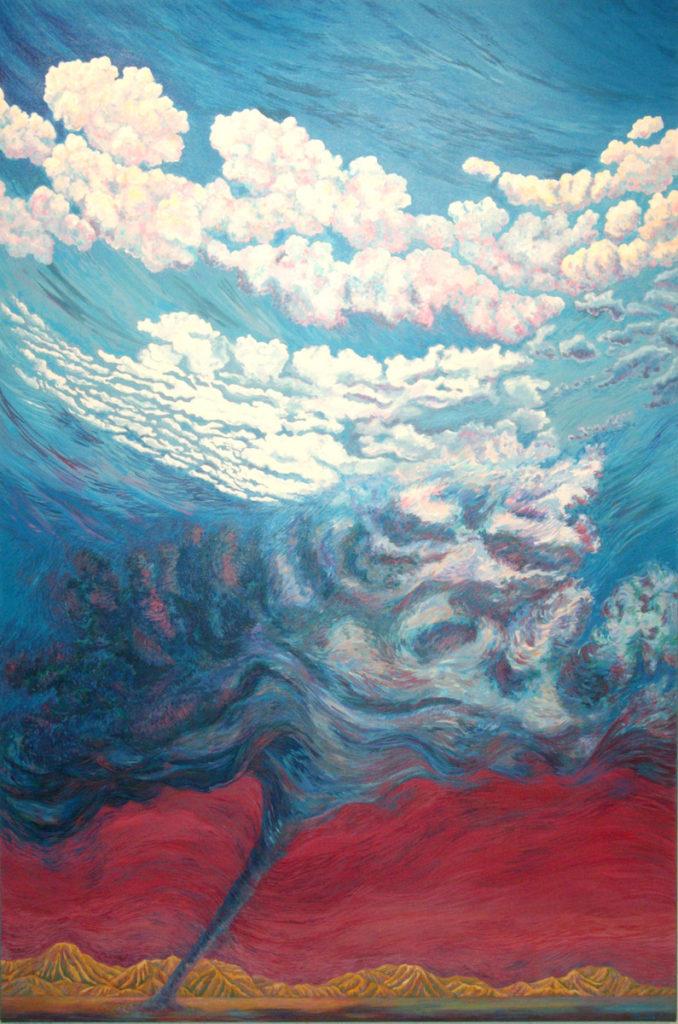 acrylic painting: Air, Cyclone