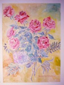 Anniversary Roses: watercolor painting