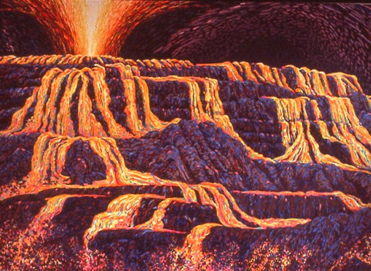 Lava Flow 6: acrylic painting