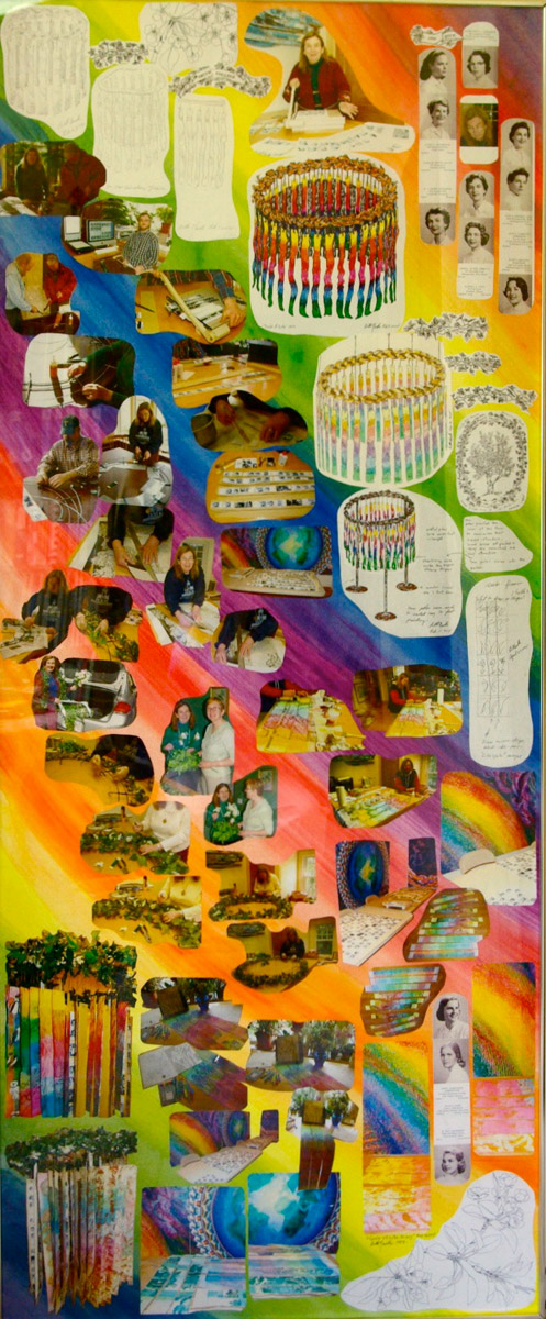 """Collage. """"Circle of Life,"""" 6' x 20,"""" Neville's first attempt to document the creation of """"Circle of Life."""""""
