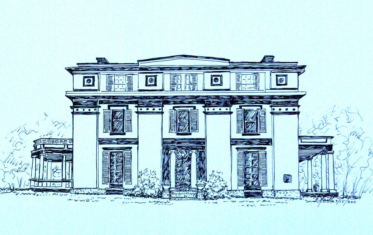 drawing: Captain Forbes House Museum