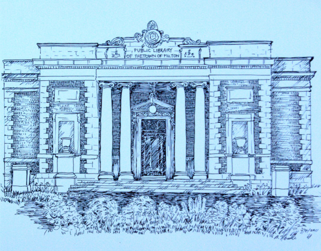 drawing: Milton Public Library