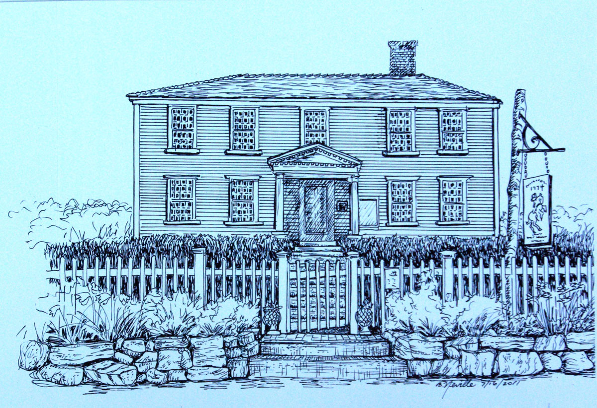 drawing: Suffolk Resolves House, 1774
