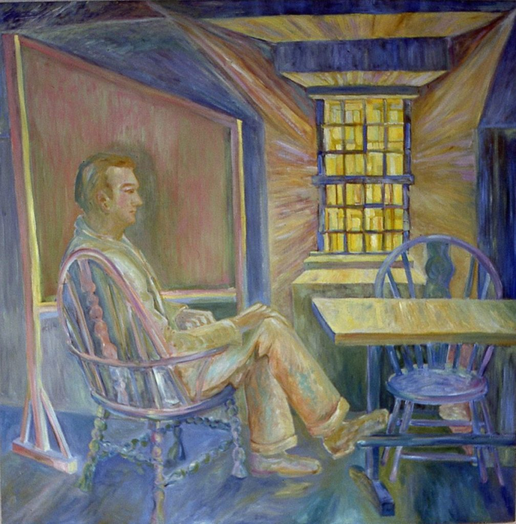oil painting of Robert Neville in Connecticut Hall, Yale