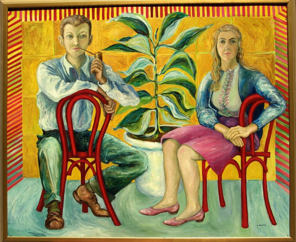 oil painting of Beth and Bob Neville entitled 'The Family Tree'
